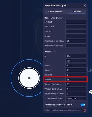 Optimiser vitesse Joystick BlueStacks