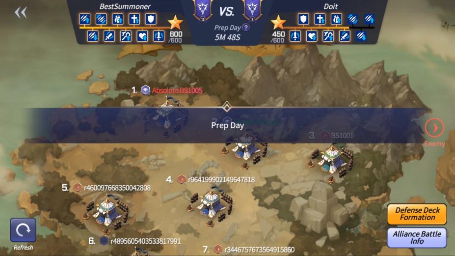 Aperçu combat d'alliance Summoners War: Lost Centuria
