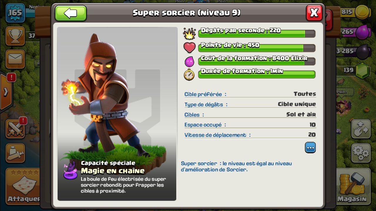 super sorcier clash of clans