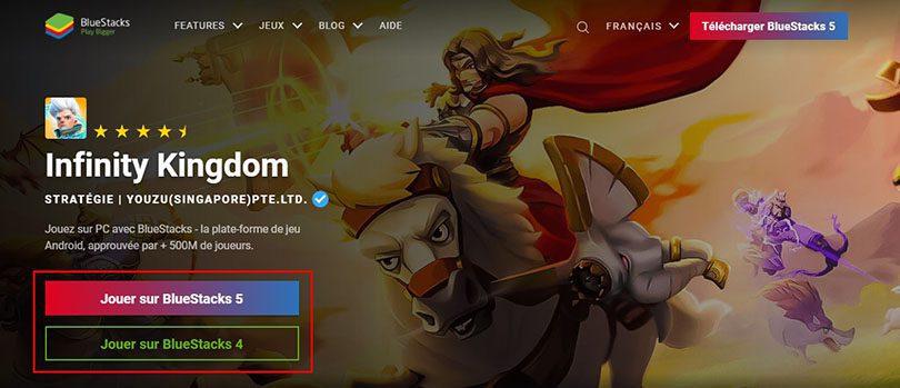 télécharger un émulateur android pour jouer à Infinity Kingdom sur PC