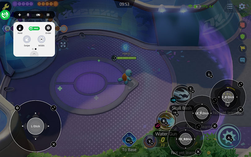 advanced interface for controller Pokémon Unite