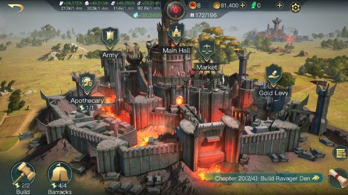 Sortie Rise to War forteresse
