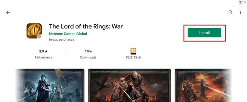 Le Seigneur des Anneaux : Appel aux Armes sur Google play