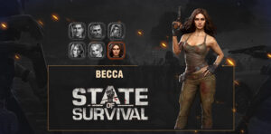 Héros Becca State of Survival anniversaire