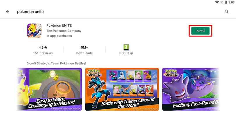 Install Pokémon Unite on PC