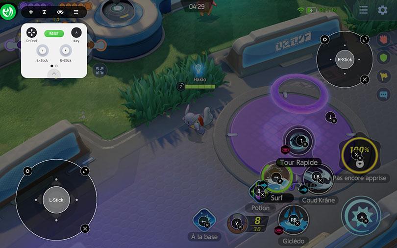 interface manette Pokémon Unite