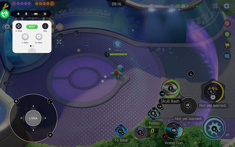 controller interface Pokémon Unite