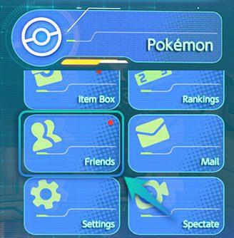 liste d'ami Pokémon Unite
