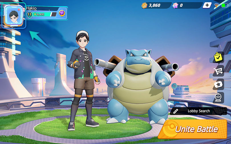 Profil Pokémon Unite