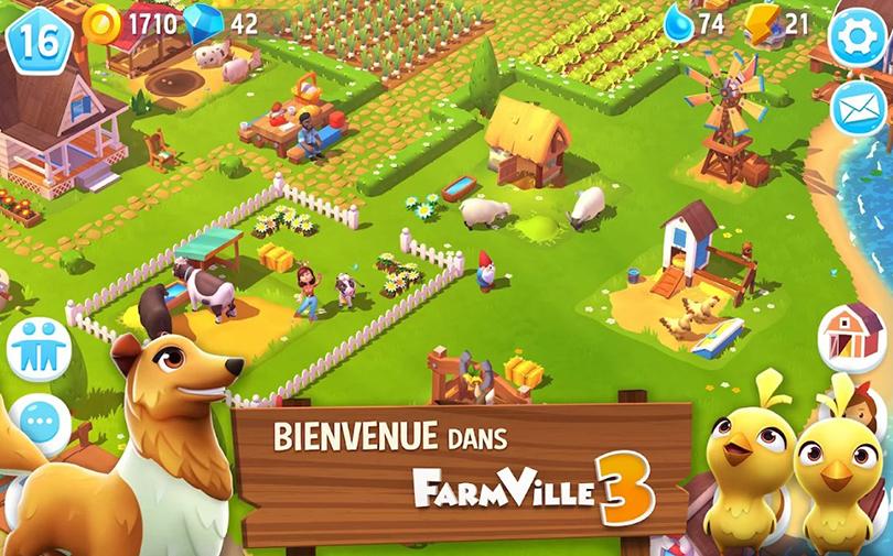 Screenshot Farmville 3 sortie